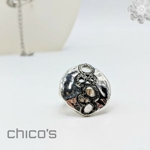 CHICO'S Stretch Band Adjustable Ring